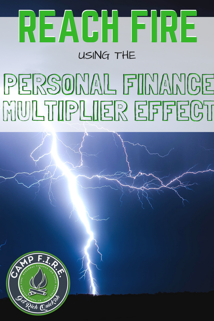 The Personal Finance Multiplier Effect is what makes an #EarlyRetirement Possible. In personal finance, every good move you make impacts multiple areas of your #budget. But be careful because the opposite is also true, and poor financial decisions can be devastating and wreak havoc on your plans for #FIRE and #FI