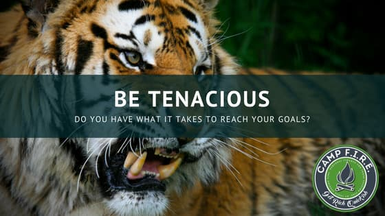 Be Tenacious With Your Goals