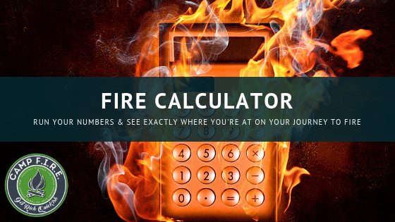 Camp FIRE Finance FIRE Calculator