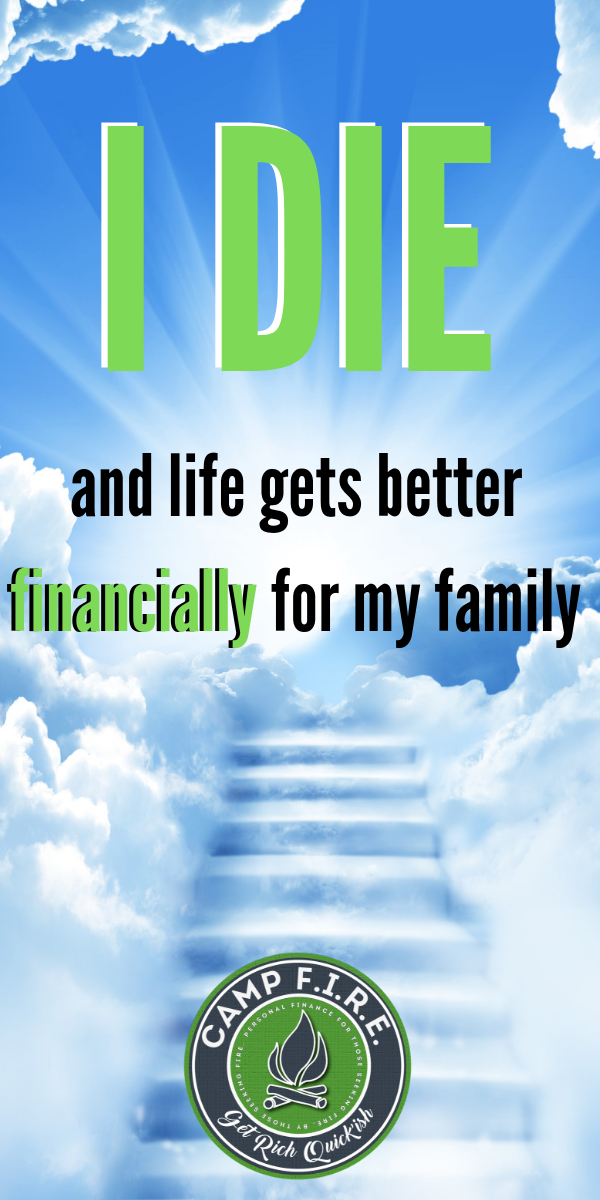 Thanks to #lifeinsurance I'm #readytodie. Now if I #passaway, life gets better #nancially for my #family. That's the greatest #gift I can give them.