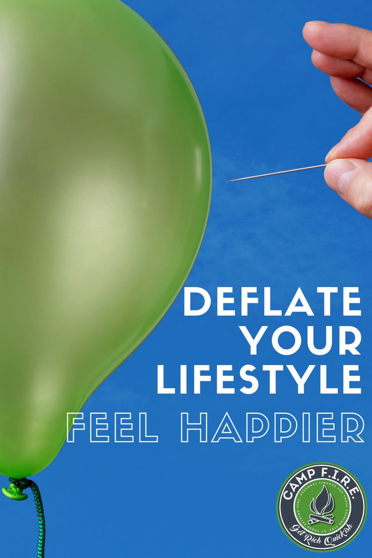 Lifestyle Deflation is the key to a #HappyLife and #FinancialSuccess. Learn how to #DeflateYourLifestyle, avoid #LifestyleInflation and #LifestyleCreep and see exactly what five real life people did to adopt a form of financial #minimalism and become #FI in the process. #FIRE #FinancialIndependence #RetireEarly #EarlyRetirement