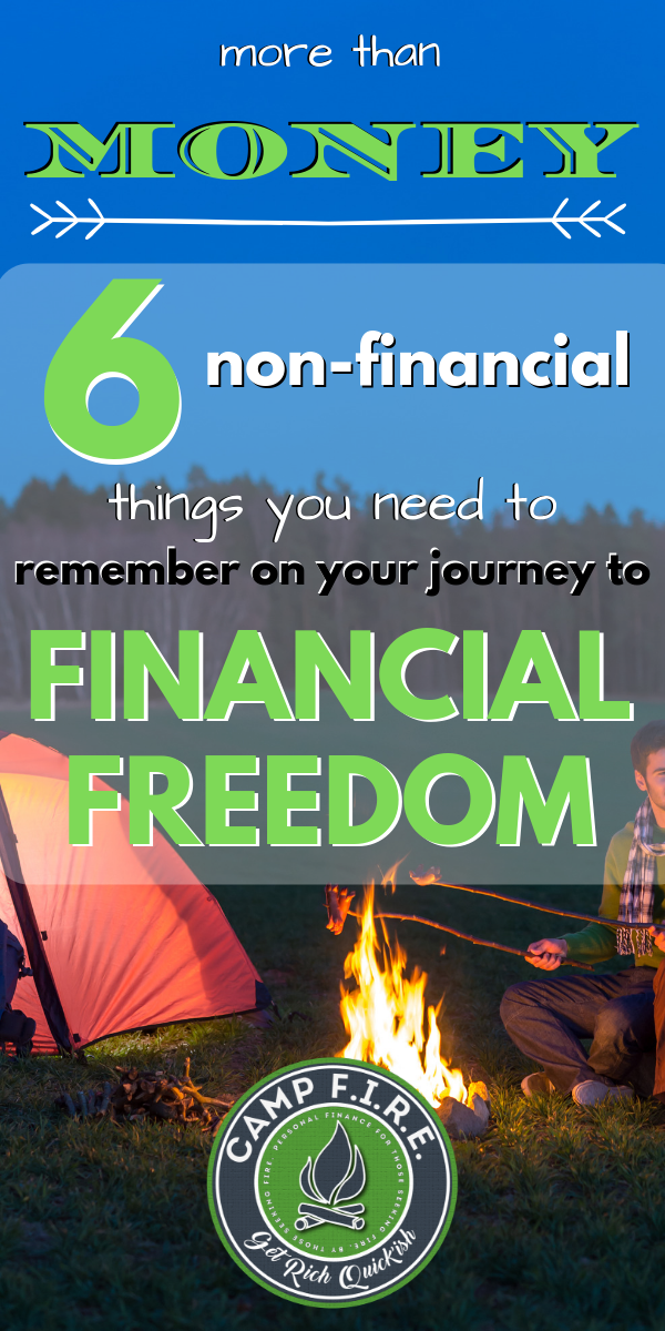 Many people in the #FIREMovement believe that #financialfreedom is all about their #finances, there's more to it than just that - it's about more than #money.