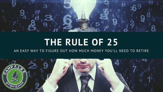 The rule of 25. An easy way to figure out how much money you'll need to retire.