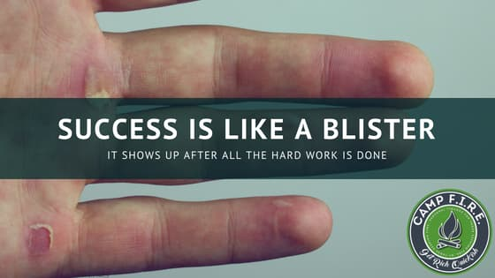 Success is like a blister
