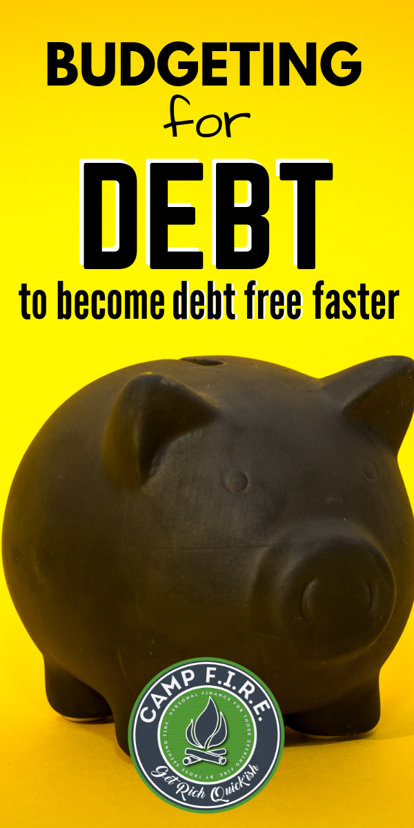 #Budgeting for #debt allows you to methodically #crushyourdebts and reach your #financialgoals faster than you otherwise would. #debtfree