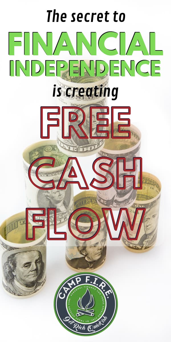 Create free cashflow - this is the real secret to financial independence. Passive income to cover your expenses is what you need to retire early.