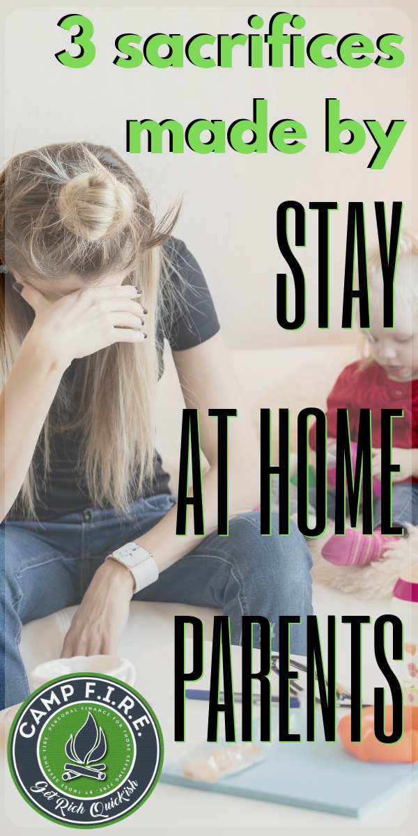 Living on a #singleincome can be hard, and not just financially. There are other sacrifices that are made when you decide to become a #stayathomepartent. #StayAtHomeMom #StayAtHomeDad #SAHM #SAHD