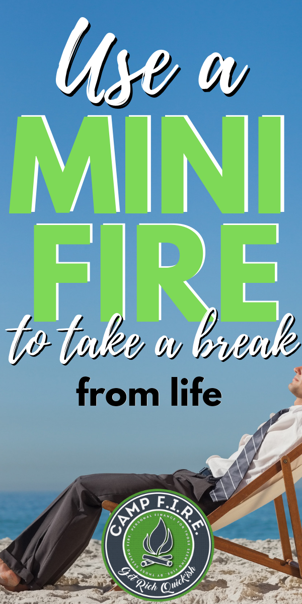 Pursuing #FIRE gives you the flexibility to live life differently. But when FIRE can't arrive soon enough #MiniFIRE might be your best option. #financialindependence #earlyretirement #retire #retireearly