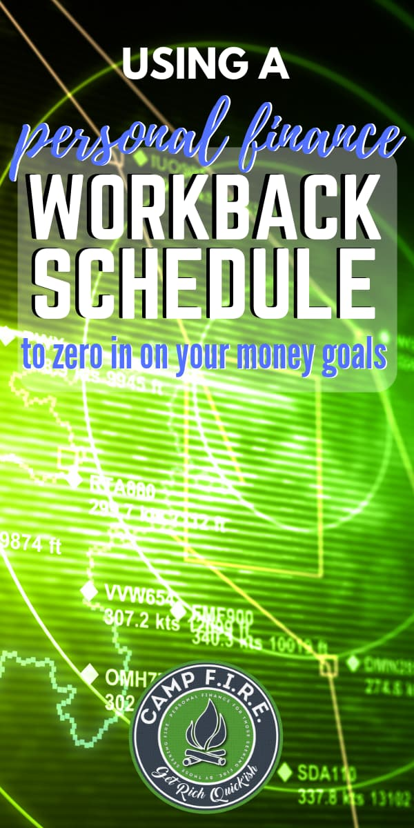 Knowing where you want to go is not the same as knowing how to get there. A personal finance workbackschedule will help you reach your FIRE goals.