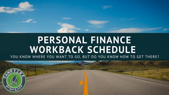 Personal Finance Workback Schedule
