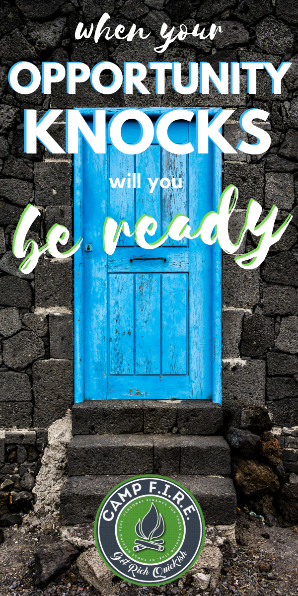 Do you know how to prepare for financial opportunities? What are you doing to prepare for financial opportunities that will come your way? When #opportunityknocks, will you be able to answer?